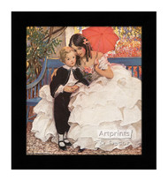 David Copperfield and His Mother - Framed Art Print