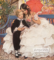 David Copperfield and His Mother by Jessie Wilcox Smith - Art Print