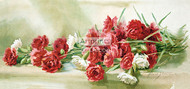 A Panel Of Carnations by Maud Stumm - Art Print