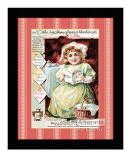 The New Home Sewing Machine Co. - Vintage Ad - Framed Art Print