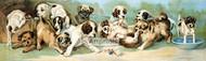 Yard of Puppies by C.L. Van Vredenburgh - Art Print