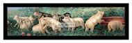 A Yard of Pigs - Framed Art Print