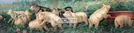 A Yard of Pigs by William De La Montagne Cary - Art Print