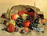 Fruit & Wine by H. Raymann - Art Print