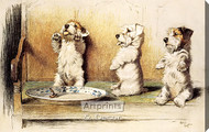 For What We Are About to Receive by Cecil Aldin - Stretched Canvas Art Print