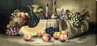 Fruit & Wine by Harry Hadland - Stretched Canvas Art Print