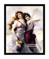 Enchanted Maidens - Framed Art Print