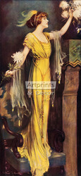 A Queen of Society by Charles Allan Gilbert - Art Print