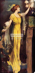 A Queen of Society by Charles Allan Gilbert - Stretched Canvas Art Print