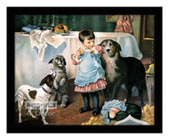 Charity Begins at Home - Framed Art Print