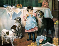 Charity Begins at Home by Charles Burton Barber - Stretched Canvas Art Print