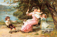 The Swing by Frederick Morgan - Art Print