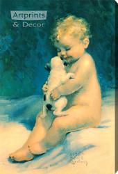 Chums by Bessie Pease Gutmann - Stretched Canvas Art Print