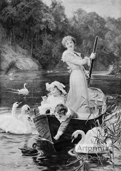 The Home Of The Swans by Frederick Morgan - Art Print