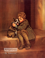 When A Feller's Got A Friend by Adelaide Hiebel - Art Print