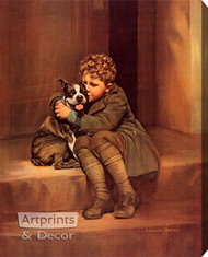 When A Feller's Got A Friend by Adelaide Hiebel - Stretched Canvas Art Print