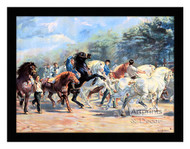 Horse Fair - Framed Art Print