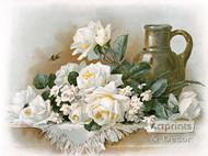 Winter Roses by Paul de Longpre - Art Print