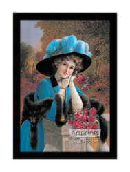 Lady with Carnations - Framed Art Print