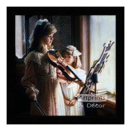 Violin Sisters - Framed Art Print