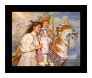 Memories - Carousel Horse - Framed Art Print