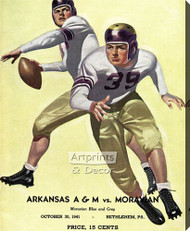 Arkansas A&M vs Moravian - Football Game Poster – Stretched Canvas Art Print