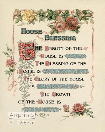 house blessing art print at artprintsanddecor com