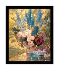 Multicolored Floral - Framed Art Print