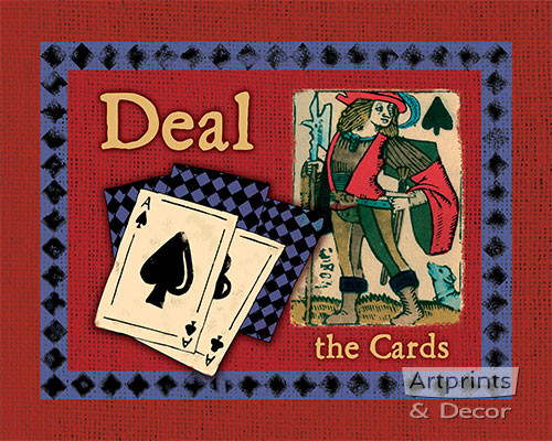 Deal The Cards - Art Print