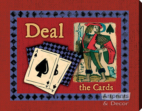 Deal The Cards - Stretched Canvas Art Print