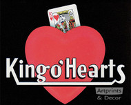 King o' Hearts - Art Print