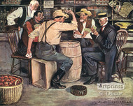 The Card Game by Clarence Underwood - Art Print