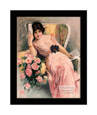 Pink Roses with a Letter - Framed Art Print