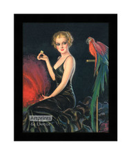 Red Feathers and a Cracker - Framed Art Print
