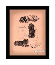 Spaniels - Framed Art Print
