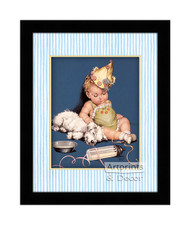 After the Party - Framed Art Print
