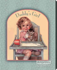 Daddy's Girl by Charlotte Becker - Stretched Canvas Art Print