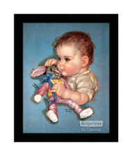 Daddy's Sweetheart - Framed Art Print