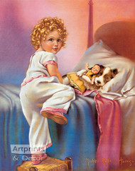 Bedtime by Mabel Rollins Harris - Art Print