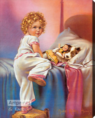 Bedtime by Mabel Rollins Harris - Stretched Canvas Art Print