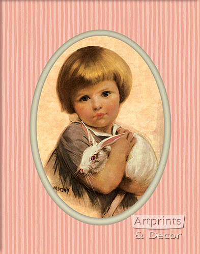 The White Bunny by Medall - Art Print