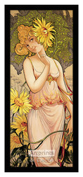 Miss Sunflower - Framed Art Print