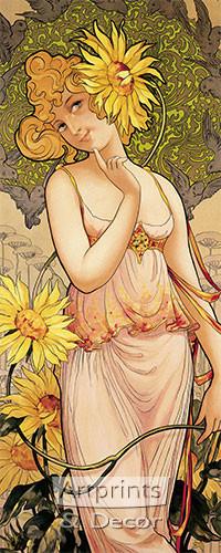 Miss Sunflower - Framed Art Print