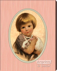 The White Bunny by Medall - Stretched Canvas Art Print
