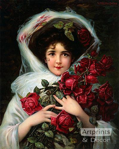 Evening Bouquet - Art Print