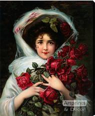 Evening Bouquet - Stretched Canvas Print