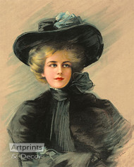 Woman in Black - Art Print
