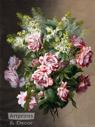 A Springtime Bouquet by Raoul de Longpre - Art Print