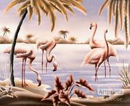 Flamingo Tango - Art Print