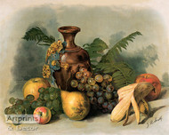 Tropical Fruit Paradise - Art Print